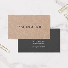 #Minimalist #Professional Rustic #Kraft Background Business Cards have a #beautiful and rustic appearance. Fully Customizable Texts, Fonts & color!  Ideal for personal, corporate, professional, Interior designer, #Entrepreneurs