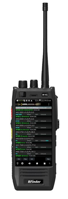 "by Bob K0NR ""Some exciting news wandered into my inbox this past week concerning a handheld radio driven by the Android operating system. The RFinder H1 is an FM plus DMR radio to be"