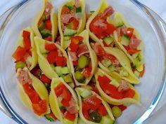 Salade de pâtes fourrées aux légumes