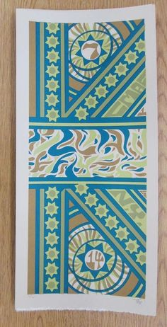 Original silkscreen concert poster for Phish at Canandaigua, NY in 2014. It is printed on Watercolor Paper with Acrylic Inks and measures around 10 x 22 inches.  Print is signed and numbered out of only 85 by the artist Tripp.
