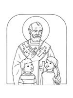 19 different st nicholas coloring pages in various styles free to print for non