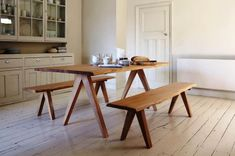 Kitchen table bench becomes a good idea for kitchen furniture that offers you a functional side and kitchen interior, especial …