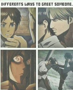 """AOT's got this whole """"greeting"""" thing down."""