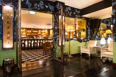 china tang, the dorchester, london   Fromental with Sir David Tang selected hand-painted designs that evoke 1940′s Shanghai