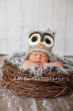 i wish this etsy photo prop was a real baby hat, because i like it a million times more than the actual owl hats i pinned :/