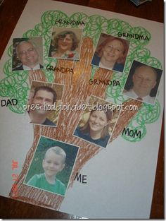 64 Ideas family tree ideas for kids preschool projects