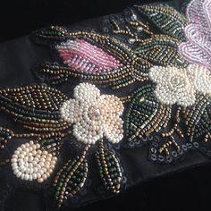 Фрагмент вышивки на поясе.#handwork #embroidery #beads_embroidery #вышивка…
