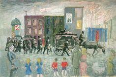 begrafenisstoet door Ber Mengels 1921-1995