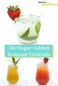 Enjoy these sweet sip cocktails without the extra sugar. #recipe