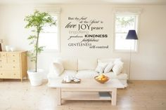love the variety of fonts idea for a large wall piece. Not necessarily these words but the idea is awesome.  From Etsy: urbanwalls