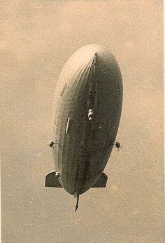 Hindenburg above the field at Frankfurt, 1936 via Todd Neitring