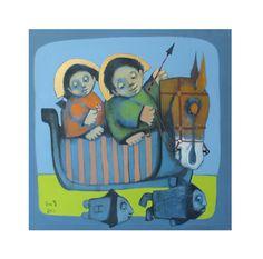 Love paintingChristmas Gifthorse  от ARTGALERYPAINTING на Etsy