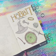 lord of the rings inspired bullet journal spreads. LOTR fan pages in your bullet journal Bullet Journal And Diary, Bullet Journal Junkies, Bullet Journal Aesthetic, Bullet Journal Themes, Bullet Journal Spread, Bullet Journal Inspiration, Book Journal, Journal Ideas, Journals