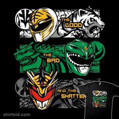 Power Rangers T-Shirt by PrimePremne. Show everyone that you are a fan of the Might Morphin Power Rangers with this t-shirt. Tommy Oliver Power Rangers, Tommy Power, Power Rangers Fan Art, Power Rangers T Shirt, Gi Joe, Pawer Rangers, Green Ranger, Mighty Morphin Power Rangers, Ghost Rider