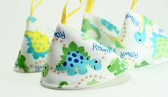 Pee Pee Tee Pees for Baby Boys Dinosaurs Set by HandmadeBits4u