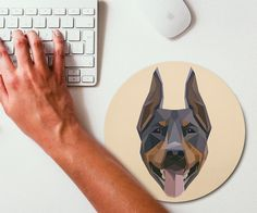 Geometric #Art #Doberman Pinscher Mouse Pad - CoolShitiBuy.com