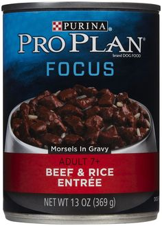 Purina Pro Plan Canned Beef and Rice Morsels Food, 13 oz. *** Continue to the product at the image link. (This is an affiliate link and I receive a commission for the sales) Wet Dog Food, Puppy Food, Pro Plan Dog Food, Dog Food Brands, Beef And Rice, Gravy, Dog Food Recipes, Entrees, Nutrition