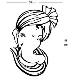 simple ganesh line drawings - Google Search