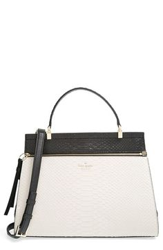 kate spade new york 'shaw street - kegan' python effect leather satchel available at #Nordstrom