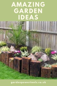 Quintessentially Quirky Garden Ideas that will Amaze you Raised Bed Railway Sleepers and more amazing garden ideas to try.Raised Bed Railway Sleepers and more amazing garden ideas to try. Herb Garden Design, Backyard Garden Design, Diy Garden, Garden Edging, Garden Borders, Backyard Landscaping, Landscaping Ideas, Garden Boarders Ideas, Backyard Ideas