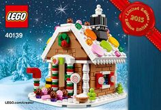 After doing a little more digging after my previous post of the Christmas Train (40138), I found that the building instructions for the LEGO Seasonal Gingerbread House (40139) were also uploaded to LEGO's servers which you can also download at your convenience.