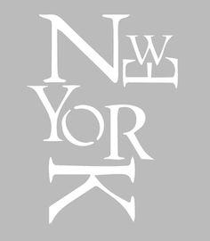Pochoir Adhésif 28 x 20 cm NEW YORK