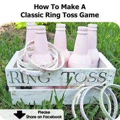 How To Make A Classic Ring Toss Game - http://www.hometipsworld.com/how-to-make-a-classic-ring-toss-game.html