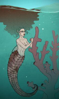 Mermaid by Odrobinka.deviantart.com on @DeviantArt
