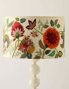 Beautiful crewel embroidery patterns Anthropologie Lamp Shades - Blog - fête à fête