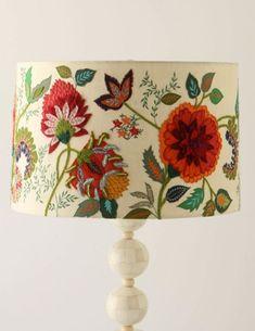 Beautiful crewel embroidery patterns Anthropologie LampShades - Blog - fête à fête
