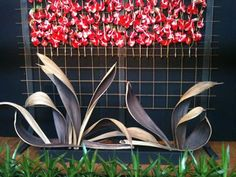 Palm seed pods art.