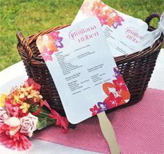 photo of fan wedding programs