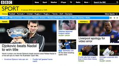 BBC relaunches sports site realigned around live coverage.
