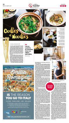 Oodles of Noodles|Epoch Taste #Food #LittleTongNoodleShop #newspaper #editorialdesign