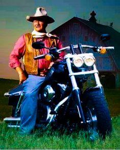 John Wayne ( y la moto que tendría en el presente...)