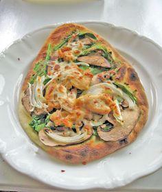 Chicken pesto with stone-fire naan pizza recipe