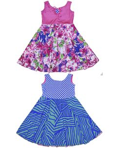 Boutique dresses for little girls and tweens, from TwirlyGirl.  This style is twirly and reversible.  Click to see more.