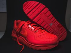 hot sale online 4e1e6 86c58 ... MENS Nike Air Max Ltd 3 Mens 687977-666 Bright Crimson Red Running  Shoes Size ...