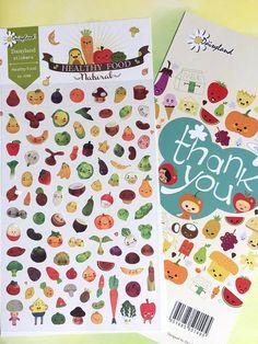 cartoon fruit sticker super cute colorful fruit by StickersKingdom