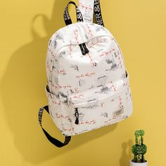 Youthful and beautiful, fashion trends. There is a compartment inside to facilitate the classification of items. Backpack Bags, Fashion Backpack, High School Students, Travel And Leisure, School Bags, Travel Bags, Weight Loss, Backpacks, Female