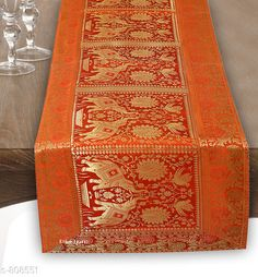 Table Runner Colorful Brocade & Poly Satin Table Runners Fabric: Poly Satin Size: Dimension (L X B) - 60 in X 16 in Description: It Has 1 Piece of Table Runner Work: Brocade Patch Work Country of Origin: India Sizes Available: Free Size *Proof of Safe Delivery! Click to know on Safety Standards of Delivery Partners- https://ltl.sh/y_nZrAV3  Catalog Rating: ★4.5 (260)  Catalog Name: Elegant Designer Poly Satin Table Runners Vol 2 CatalogID_92922 C129-SC1127 Code: 534-808551-