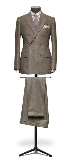Men-s-luxury top class brown round neck casual clothing prom suits slim fit coat pant