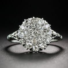 Antique Diamond Cluster Ring; Edwardian-era finger hugger - circa 1910.