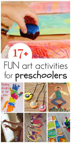 A collection of super fun preschool art activities in a post by The Artful Parent for A Mom with a Lesson Plan