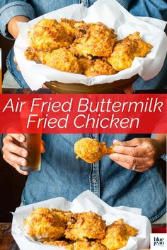 Make amazing homemade fried chicken in your air fryer! Using your air fryer to make buttermilk fried chicken lets you enjoy one of your favorite fried foods without all the guilt or the mess of deep-frying. With this easy recipe you can use chicken thighs, drumsticks, wings, boneless breast, tenders or any combo you like for delicious juicy fried chicken. Homemade Fried Chicken, Air Fryer Fried Chicken, Making Fried Chicken, Buttermilk Fried Chicken, Fried Chicken Sandwich, Air Frier Recipes, Deep Frying, My Best Recipe, Easy Dinners