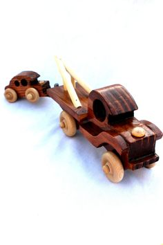 Handmade Wooden Tow Truck and Mini Car by transformedbranches, $29.95