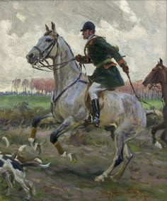 Zygmunt Rozwadowski 1870-1950 (Polish), Hunting, oil on panel, 1907
