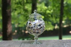 Vintage Buttons in Apothecary Jar / Jar of by theretrobeehive