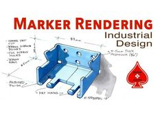 In this 13 minute video tutorial Eric Strebel shows and explains the creation process of a traditional product design marker rendering - applied to an aluminum backpack hanger. Backpack Hanger, Product Development Process, Sketches Tutorial, Sketch Markers, Design Tutorials, E Design, Industrial Design, Photoshop, Sketching