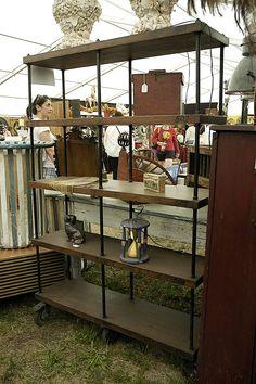 Awesome industrial vintage shelves, LOVE!